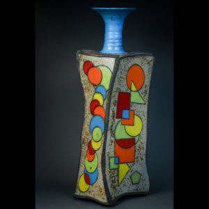 Paint By Numbers Raku Pottery by Jack Valentine